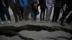 Many roads, highways and tourist attractions are structurally damaged.(Reuters/Navesh Chitrakar)