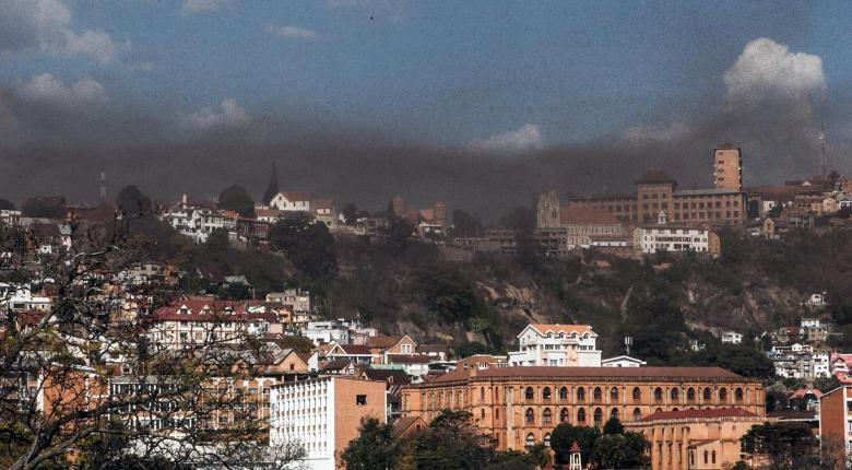 Locust Cloud Darkens Skies Over Madagascar Capital